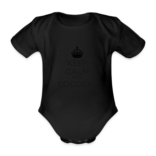 Coodere keep calm - Organic Short-sleeved Baby Bodysuit
