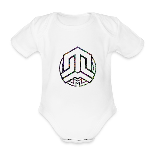 Cookie logo colors - Organic Short-sleeved Baby Bodysuit