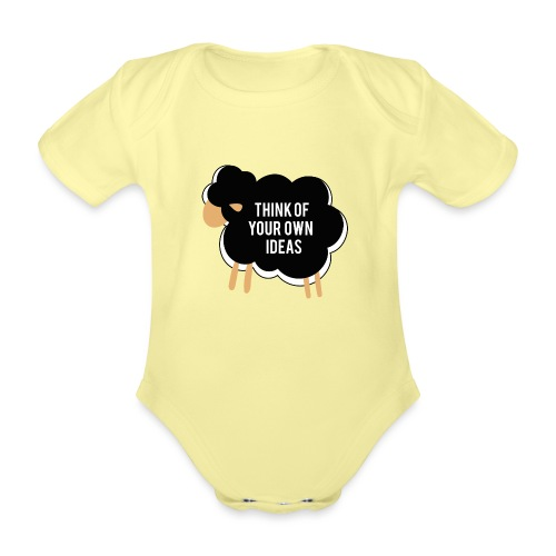 Think of your own idea! - Organic Short-sleeved Baby Bodysuit