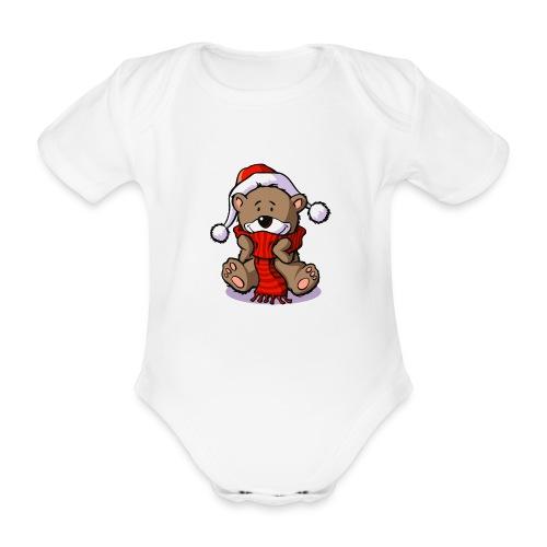 vl080b_winterbaer_4c - Baby Bio-Kurzarm-Body