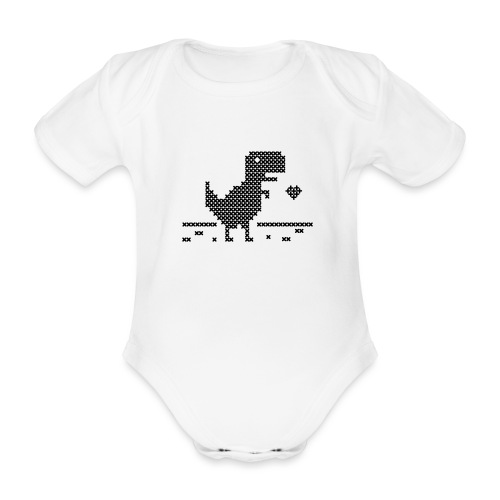 Stitch Rex - Organic Short-sleeved Baby Bodysuit