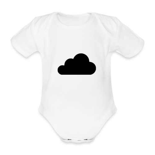 cloud white - Organic Short-sleeved Baby Bodysuit