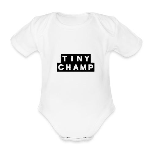 tiny champ blocks - Organic Short-sleeved Baby Bodysuit