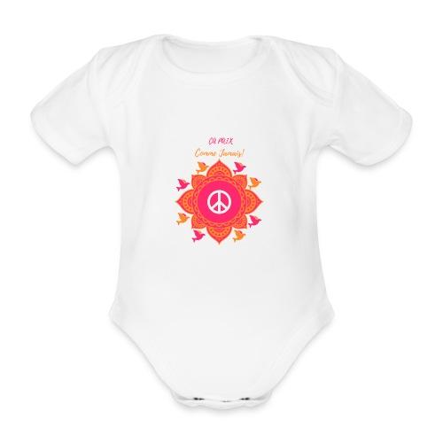 Ca paix comme jamais! - Body Bébé bio manches courtes