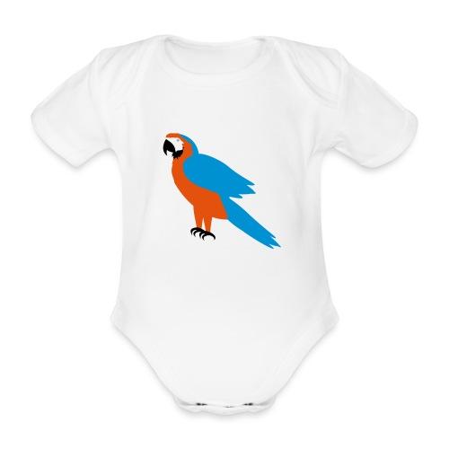 Parrot - Body ecologico per neonato a manica corta