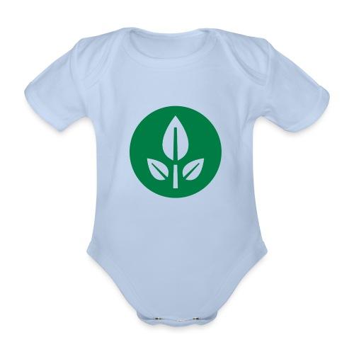 EVE Flower Plant Symbol - Organic Short-sleeved Baby Bodysuit
