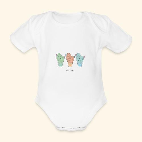 Third eye cactus - Body ecologico per neonato a manica corta
