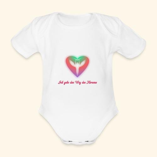 Ich gehe den Weg meines Herzens - Baby Bio-Kurzarm-Body