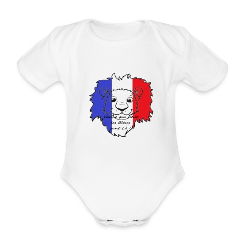 Lion supporter France - Body Bébé bio manches courtes
