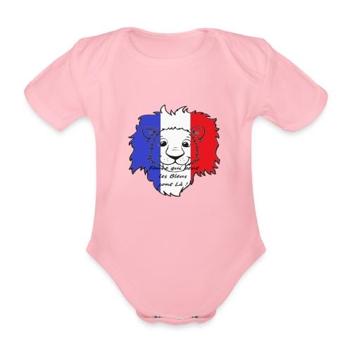 Lion supporter France - Body Bébé bio manches courtes