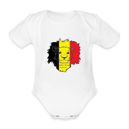 Lion supporter Belgique - Body Bébé bio manches courtes
