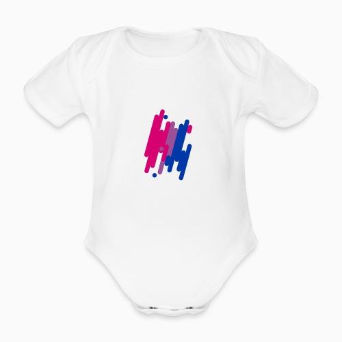Abstract Bifil design - Organic Short-sleeved Baby Bodysuit