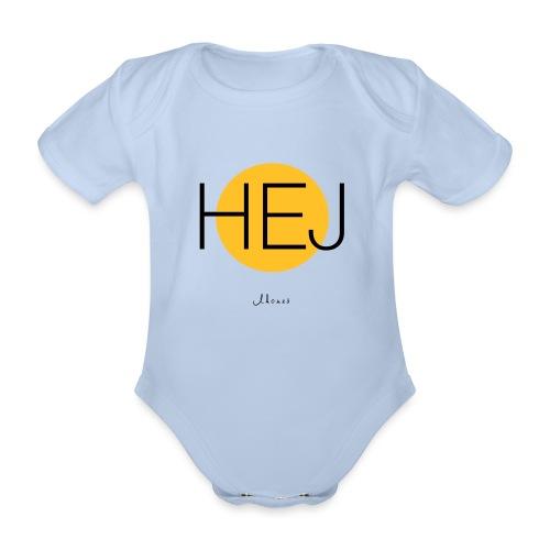 HELLO circle - Organic Short-sleeved Baby Bodysuit