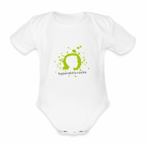 hyperaktiv.rocks Logo - Baby Bio-Kurzarm-Body