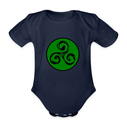 Triskel and Spiral - Body orgánico de maga corta para bebé