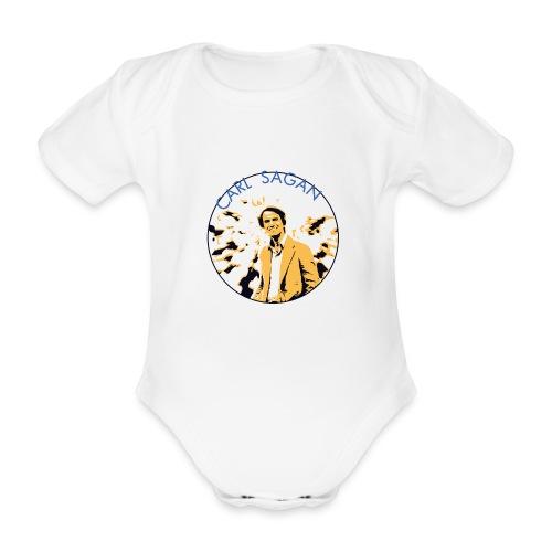 Vintage Carl Sagan - Organic Short-sleeved Baby Bodysuit