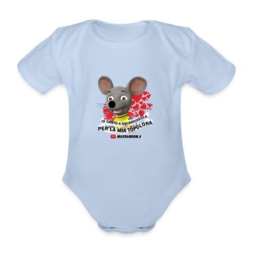 Io Canto a Squarciagola - Body ecologico per neonato a manica corta