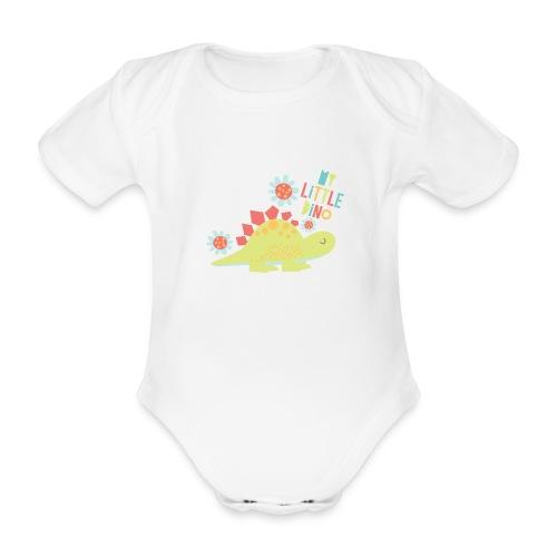 My Little Dino - Baby bio-rompertje met korte mouwen