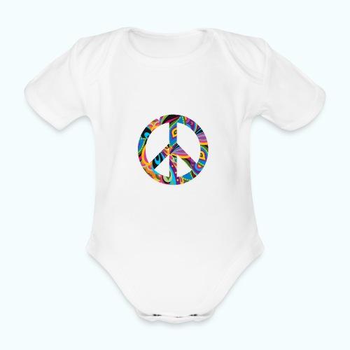 70s vintage hippie - Organic Short-sleeved Baby Bodysuit