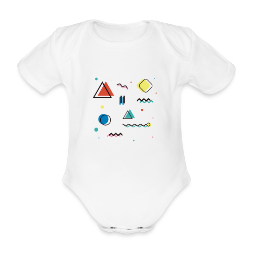 Abstract geometry - Organic Short-sleeved Baby Bodysuit