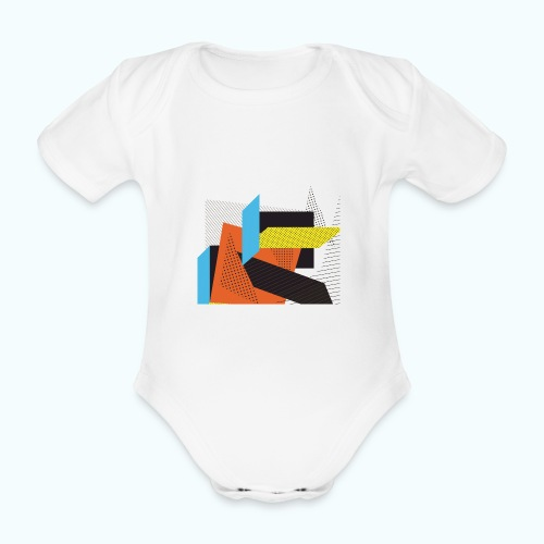 Vintage shapes abstract - Organic Short-sleeved Baby Bodysuit