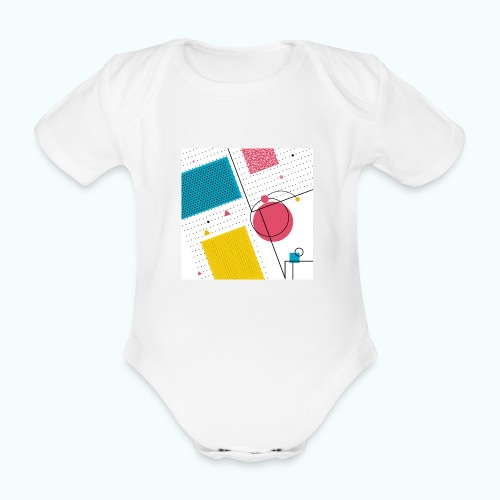 Colors shapes abstract - Organic Short-sleeved Baby Bodysuit