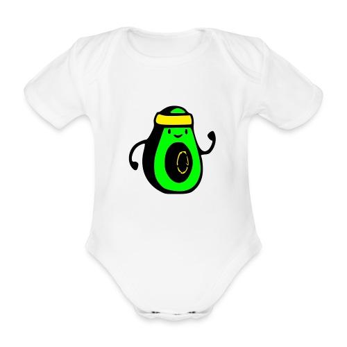 aguacate ninja - Body orgánico de manga corta para bebé
