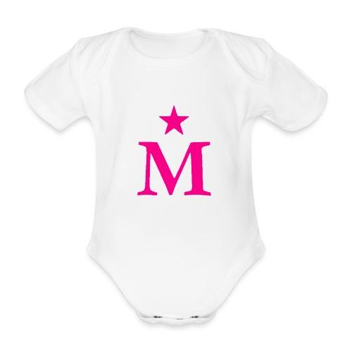 M de Moderdonia rosa - Body orgánico de manga corta para bebé
