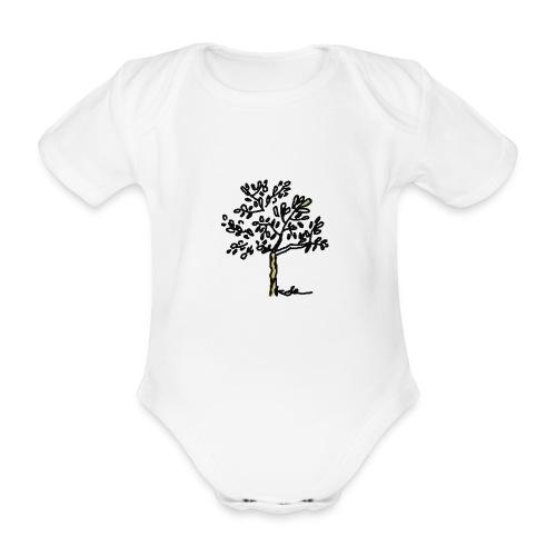 Jeune olivier - Baby Bio-Kurzarm-Body