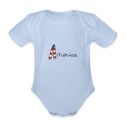 America - Body Bébé bio manches courtes