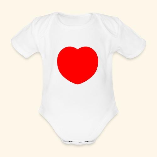 Heart - Baby Bio-Kurzarm-Body