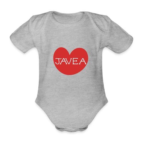 LOVE JAVEA - Body orgánico de maga corta para bebé
