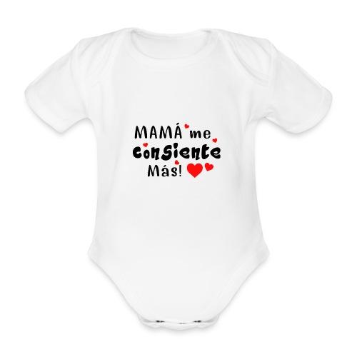 mama me consiente - Body orgánico de maga corta para bebé