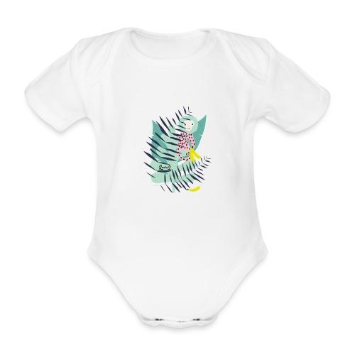 Pink monkey - Body ecologico per neonato a manica corta