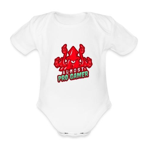 Almost pro gamer RED - Body ecologico per neonato a manica corta