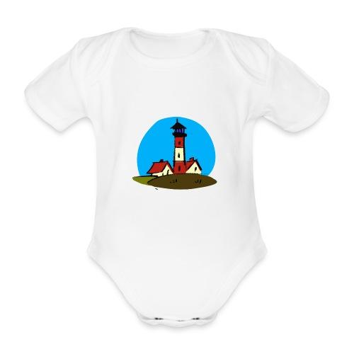 Leuchtturm Westerhever - Baby Bio-Kurzarm-Body