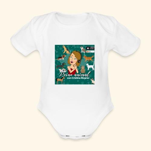 reino animal 01 - Body orgánico de maga corta para bebé
