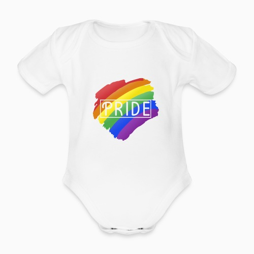 Pride - Organic Short-sleeved Baby Bodysuit