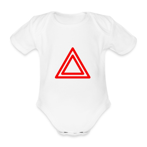 Warning - Organic Short-sleeved Baby Bodysuit