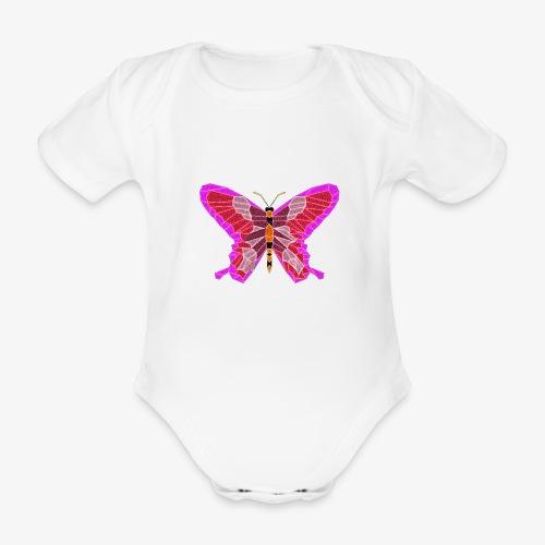 Motyl - Ekologiczne body niemowlęce z krótkim rękawem
