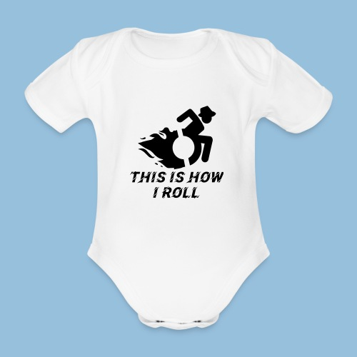 Howiroll12 - Baby bio-rompertje met korte mouwen