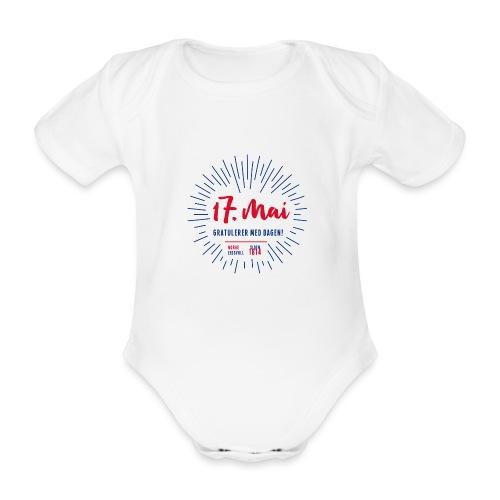 17. mai T-skjorte - Det norske plagg - Økologisk kortermet baby-body