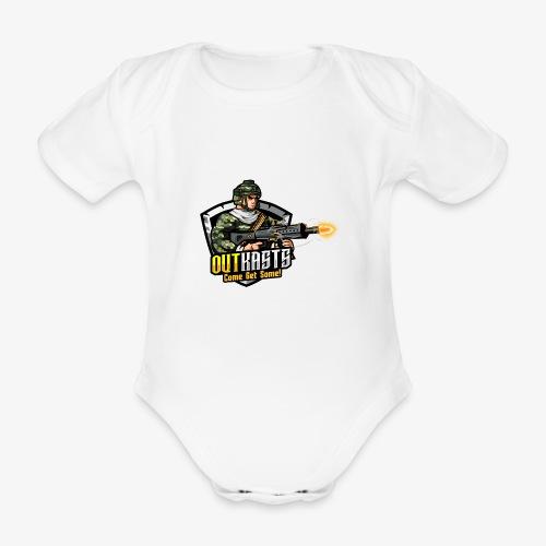 OutKasts [OKT] Logo 2 - Organic Short-sleeved Baby Bodysuit