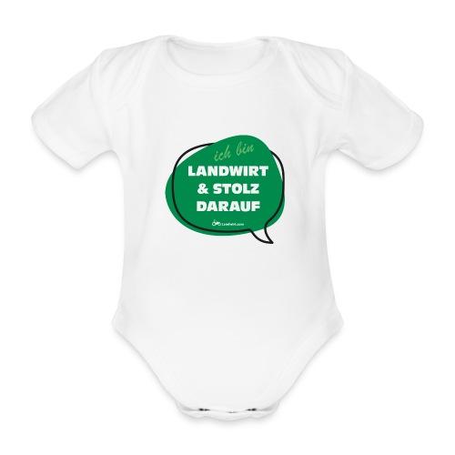 Landwirt und stolz darauf - Baby Bio-Kurzarm-Body