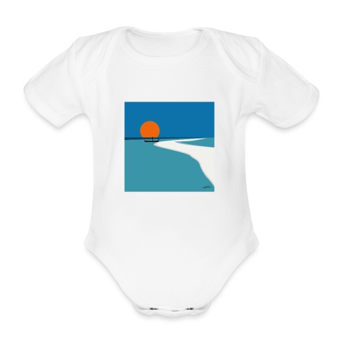 Polynésie - Body Bébé bio manches courtes