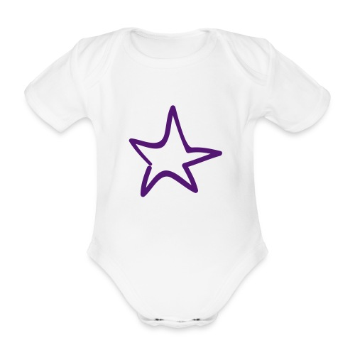 Star Outline Pixellamb - Baby Bio-Kurzarm-Body