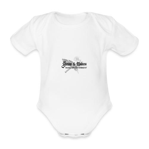 Genius and Madness White Edition - Baby Bio-Kurzarm-Body