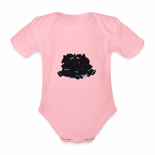 Black Big Family - Baby Bio-Kurzarm-Body