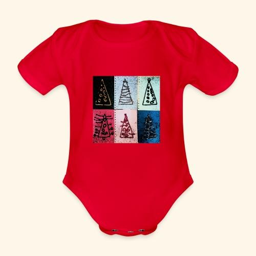 Alberi natale - Body ecologico per neonato a manica corta