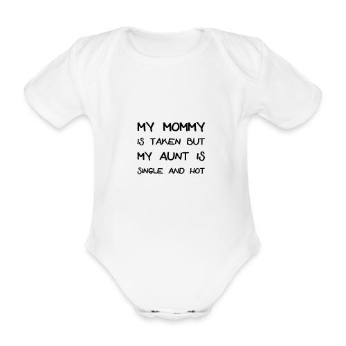 AUNT IS SINGLE - Baby Bio-Kurzarm-Body